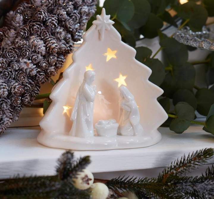 The Christmas Home Nativity Scene Tea Light Holder