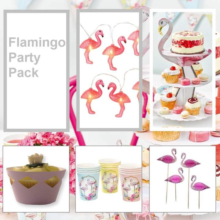 Bunting & Barrow Flamingo Party Pack