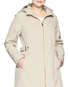 Via spiga women   plus size double breasted hooded fit and flare lightweight trench coat also shopstyle rh