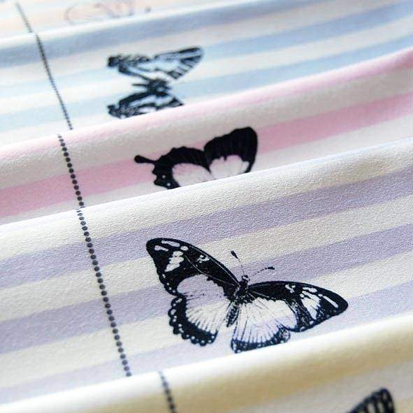 Door 77 Pastel Stripe Butterfly Napkin Set