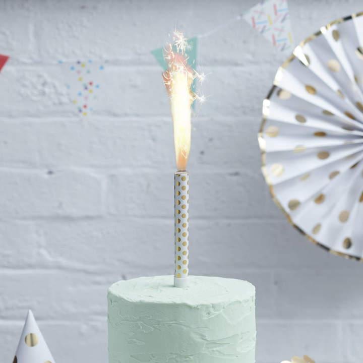 Ginger Ray Gold Polka Dot Cake Fountain Three Pk Pick And Mix