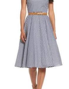 Eliza  belted halter fit  flare dress also dresses shopstyle rh