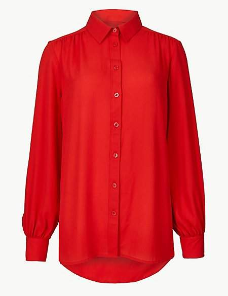 M&S Collection Longline Long Sleeve Shirt