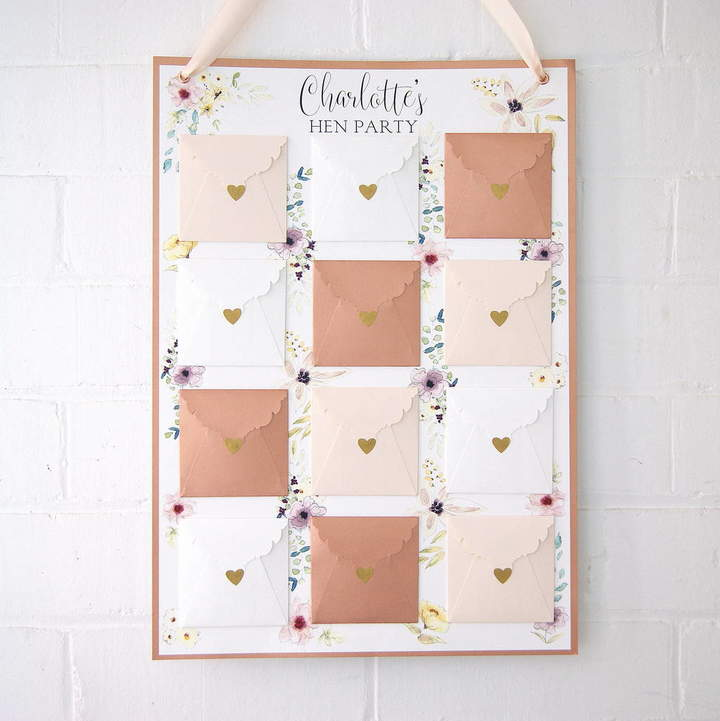 The Hummingbird Card Company Hen Party And Bridal Shower Keepsake Game