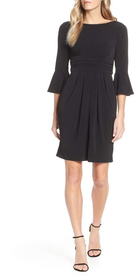 Eliza J Bell Sleeve Knit Sheath Dress