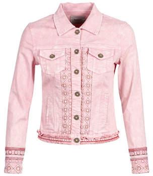 Desigual PINK BOHO women's Denim jacket in Multicolour