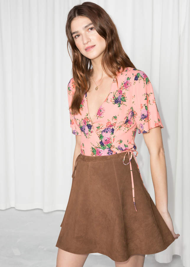 And other stories Wrap Tie Blouse
