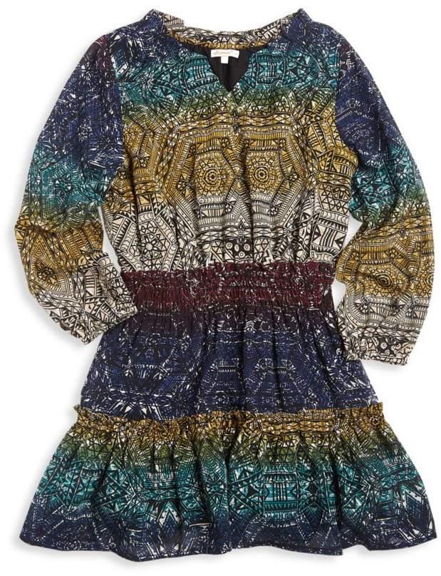Ella Moss Girl Girl's Chiffon Printed Dress