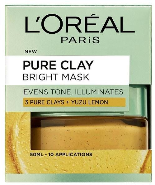LOreal Paris Pure Clay Bright Face Mask 50ml