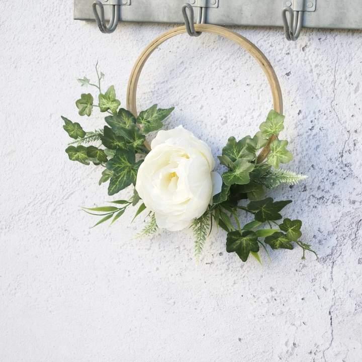 Abigail Bryans Designs Scandi Modern Wreath White Peony