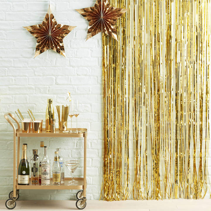 Ginger Ray Gold Fringe Curtain Party Decoration