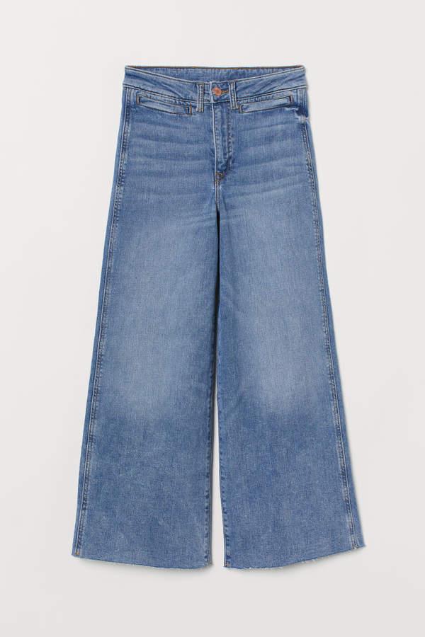 H&M - Culotte High Ankle Jeans - Blue