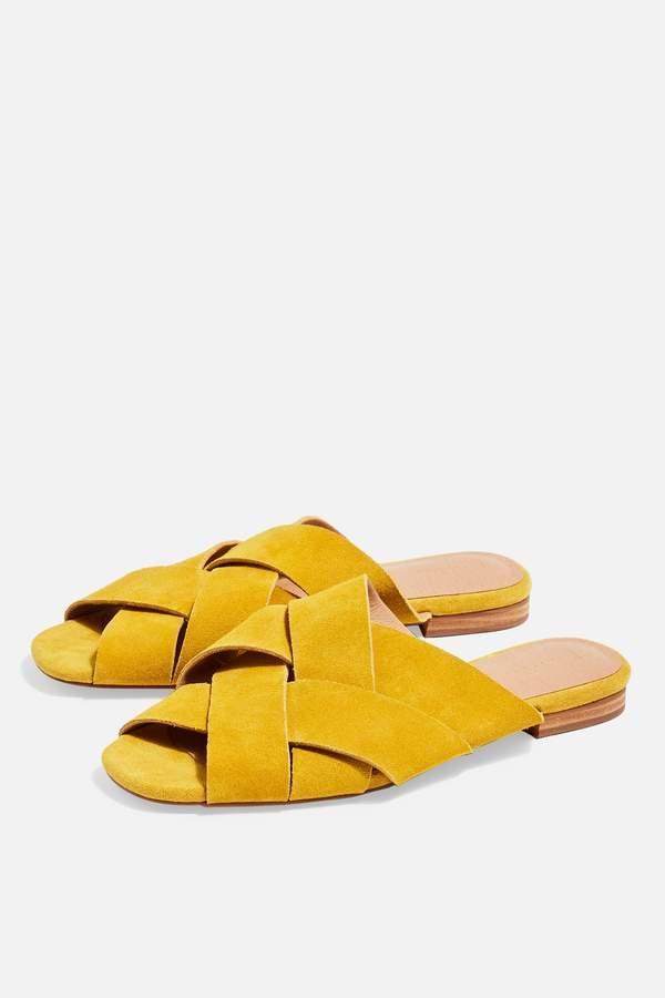 Topshop Womens Hop Flat Sandals - Yellow