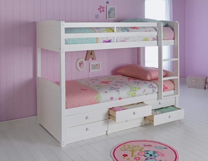 Argos Home Leigh White Detachable Single Bunk Bed Frame