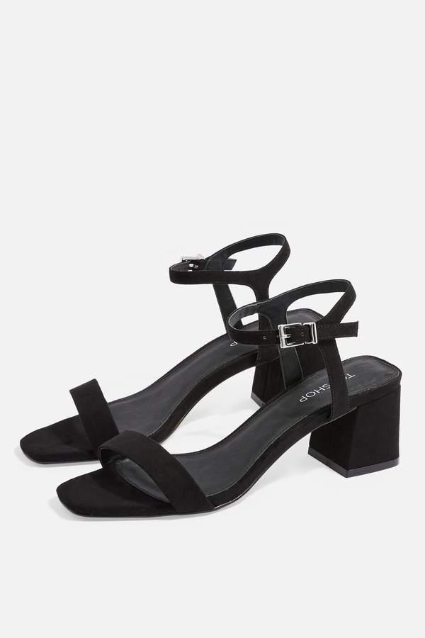 Topshop Womens Dallas Square Sandals - Black