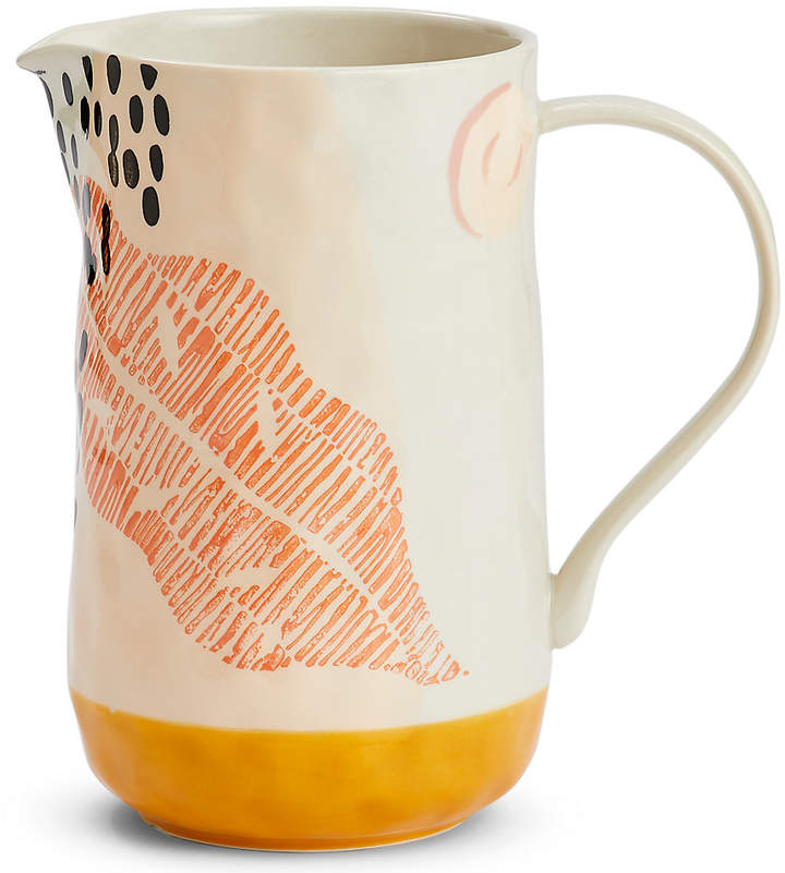 Marks and Spencer Hand Painted Abstract Jug