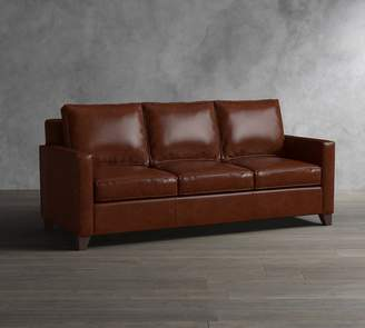 pottery barn leather sleeper sofa milo baughman circular sectional shopstyle cameron square arm