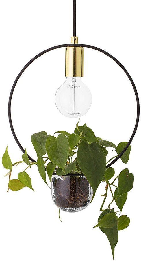 Bloomingville - Pendant Lamp with Plant Holder - Gold