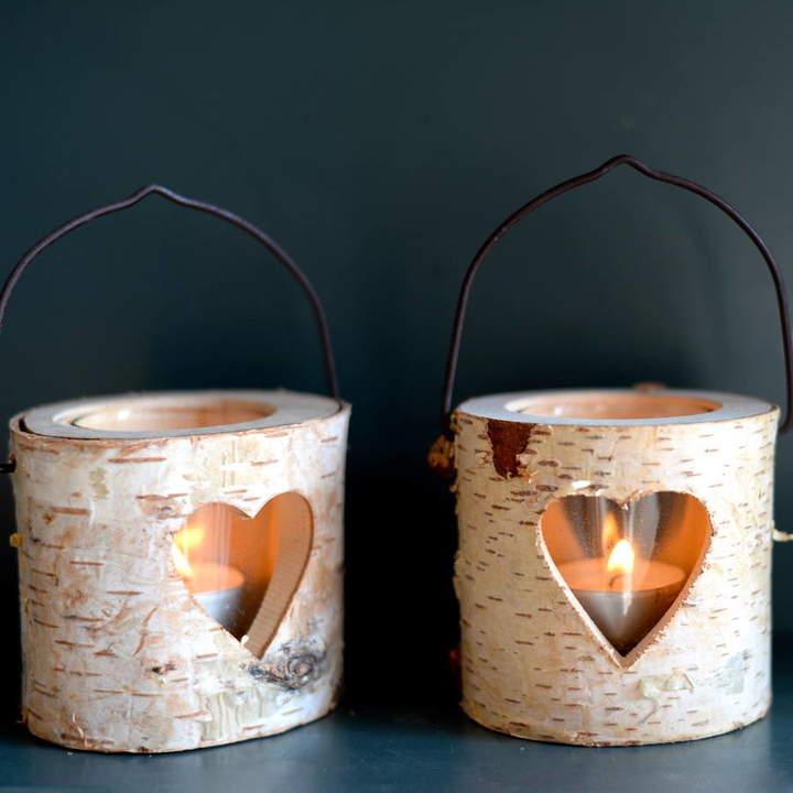 The Forest & Co Natural Bark Tea Light Holder