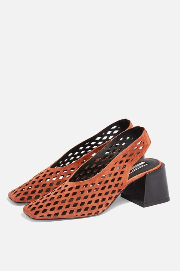Topshop Womens June Rust Slingback Heels - Rust