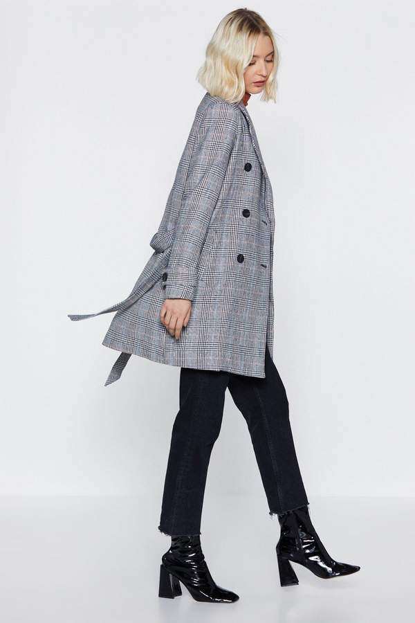 Nasty Gal Take a Rain Check Longline Coat