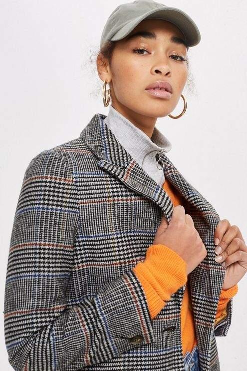 Topshop Petite Checked Coat