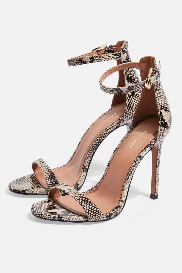 Topshop Womens Susie Two Part Skinny Heels - Multi