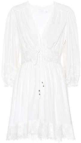 Zimmermann Iris corset-waist cotton minidress