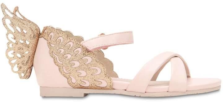 Sophia Webster Evangeline Leather Butterfly Sandals