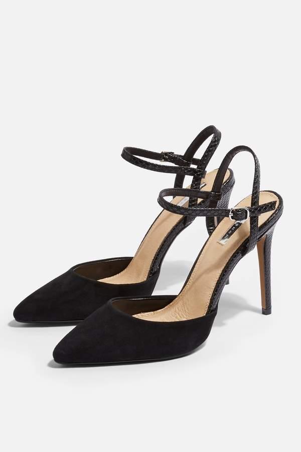 Topshop Womens Genesis Ankle Strap Shoes - Black