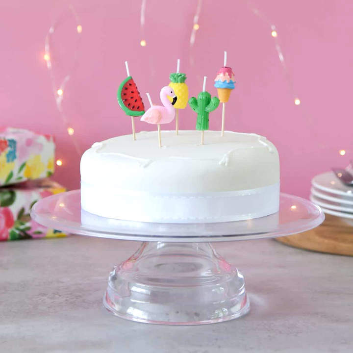 Peach Blossom Tropical Themed Birthday Cake Party Candles