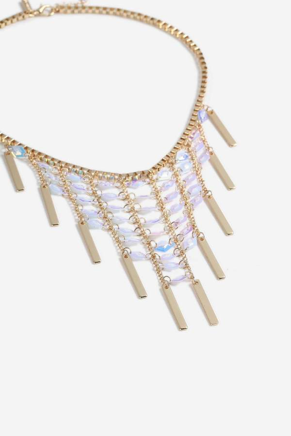 Topshop Sequin Stick Collar Necklace