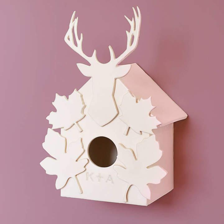 Kate Charlton Ceramics Personalised Ceramic Woodland Birdhouse