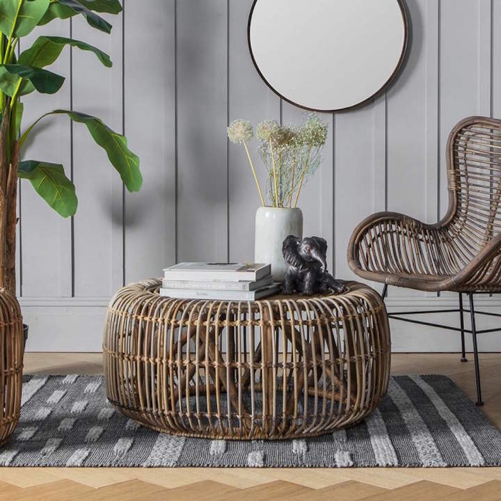 The Forest & Co Natural Rattan Coffee Table