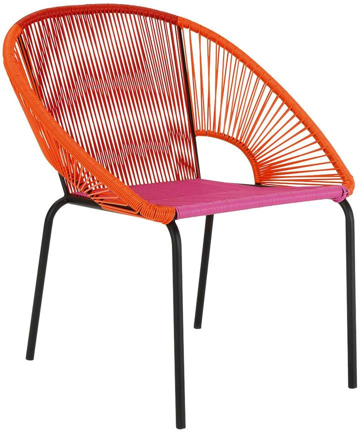 Jambi Pink and orange woven garden chair