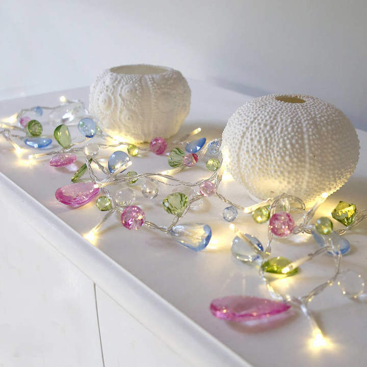Red Lilly Pastel Crystal Light Garland