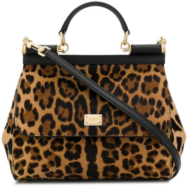 Dolce & Gabbana Sicily leopard-print tote