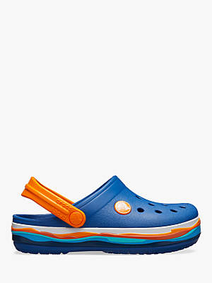 Crocs Children's Classic Wavy Band Croc Clogs, Blue