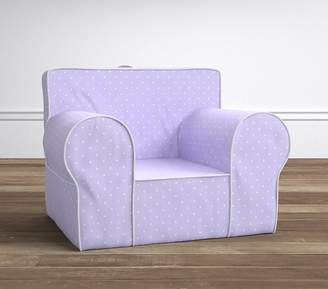 anywhere chair insert wheelchair with commode pottery barn kids shopstyle lavender pin dot slipcover only
