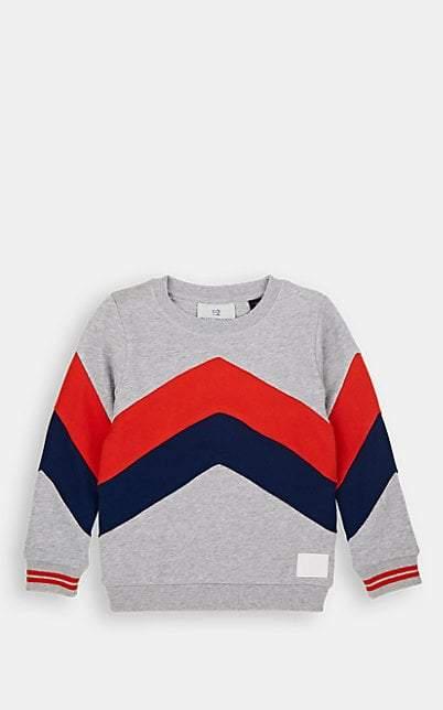 Scotch Shrunk Kids' Chevron Cotton Terry Sweatshirt - Gray