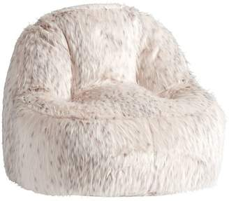 leanback lounger chairs gold satin chair sashes floor shopstyle pottery barn teen snow cat faux fur