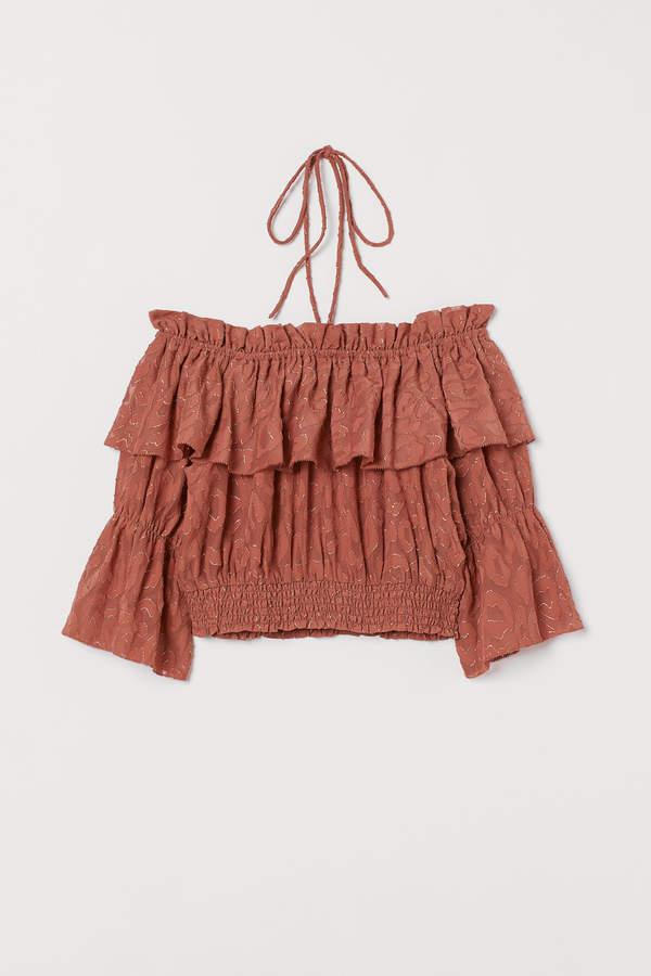 H&M Jacquard-weave Bohemian top