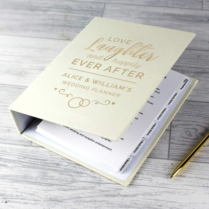 Sassy Bloom As seen on TV Personalised Wedding Love Laughter Planner
