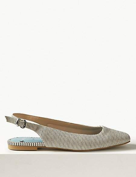 M&S Collection Square Toe Slingback Shoes