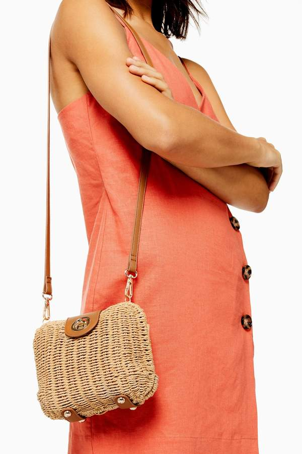 FRIDAY Wicker Cross Body Bag