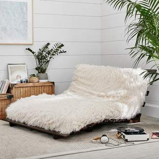 pottery barn living room furniture sets shelving ideas for small rooms teen shopstyle furlicious faux fur futon set simply white full