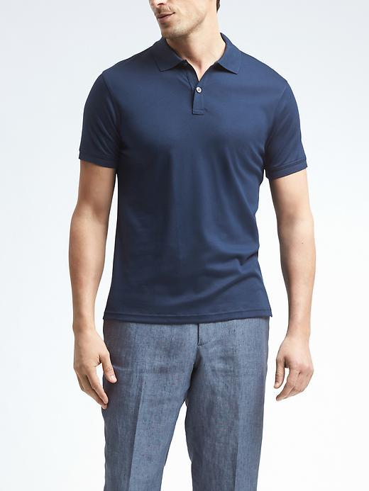 banana republic luxe touch polo