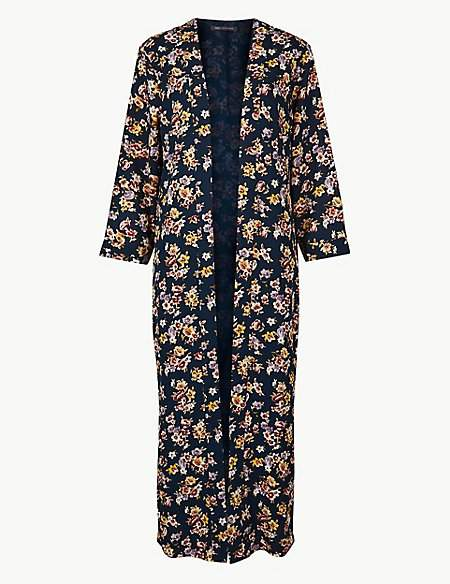 M&S Collection Printed Long Sleeve Kimono