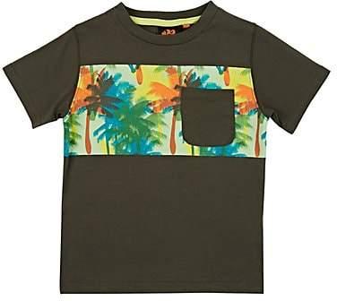 Sundek Kids' Palm-Tree-Print Cotton T-Shirt - Green