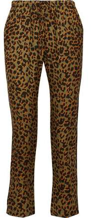 Love Stories Tyler Leopard-print Sateen Pajama Pants